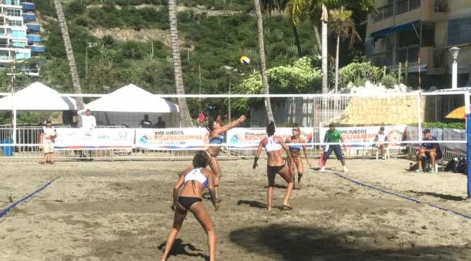 Duplas femeninas de voleibol playa clasifican a semifinal